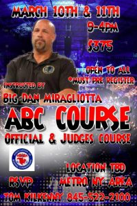 OFFICIALS AND JUDGES ABCs COURSE 2018
